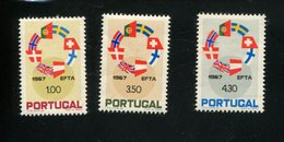 432742735 DB 1967 PORTUGAL POSTFRIS MINT POSTFRISCH EINWANDFREI ETAT NEUF YVERT 1024 1025 1026