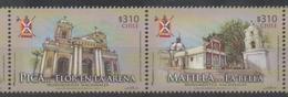 CHILE , 2016, MNH, NATIONAL MONUMENTS, CHURCHES,2v