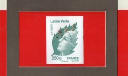 MARIANNE  DE  L ' EUROPE  --  Y & T  4662 Q    --  250  GRAMMES  LETTRE  VERTE  --  FRANCE  --  BEAUJARD  --  NEUF....