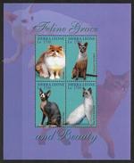 Sierra Leone 2004 N°3871/3874 Neufs Avec Chats