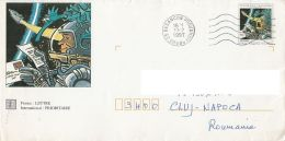 SPACE, COSMOS, COSMONAUTREADING LETTER, COVER STATIONERY, ENTIER POSTAL, 1997, FRANCE