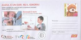 HANDICAPS, DONATION CAMPAIGN FOR DEAF CHILDRENS, COVER STATIONERY, ENTIER POSTAL, 2017, ROMANIA - Handicaps