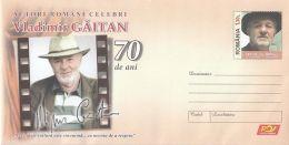 ACTORS, VLADIMIR GAITAN, COVER STATIONERY, ENTIER POSTAL, 2017, ROMANIA