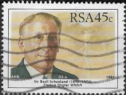 SOUTH AFRICA 1991 South African Scientists - 45c - Sir Basil Schonland (physicist) FU - Used Stamps