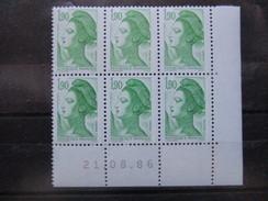 France. Coin Daté 21/08/1986. YT. 2424 **. Liberté De Delacroix.