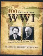 Bloc Sheet 1ere Guerre Mondiale War I  Neuf MNH ** Guyana 2014