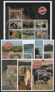 Malawi (2016) - MS + 7 Blocks -   /  Fauna - Endangered - Monkey - Wild Cat - Katzen - Lion - Elephant