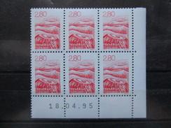 France. Coin Daté 18/04/1995. YT. 2951 **. Paysage D'Auvergne.