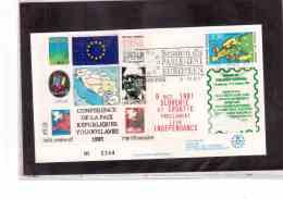 TEM8981   -   STRASBOURG  8.10.1991   /    PARLAMENT EUROPEEN - CONFERENCE DE LA PAIX REPUBLIQUES YOUGUSLAVES - European Community