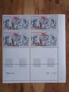France. Coin Daté 28/01/1981. YT. PA 48 **. Pionniers De La Poste Aérienne. Guillaumet Et Codos.