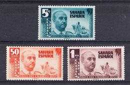 SAHARA 1951. EDIFIL Nº 88/90  VISITA DEL GENERAL FRANCO  NUEVO  SIN CHARNELA  SES481GRANDE - Sahara Español
