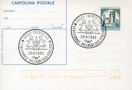 18973 Italia, Special Postmark Trento 1983  ,  Sos Kinderdorf Village, 20 Year Of Italian Village
