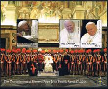 Bloc Sheet Pape Pope Jean Paul II Neuf ** MNH Gambia Gambie 2014