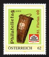 ÖSTERREICH 2013 ** Feuerwehrmuseum - Philatelietag St. Florian 07.05.2013 - PM Personalized Stamp MNH - Feuerwehr