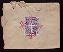 Lettre Inde 1933 India Postage Cachet Rouge Au Verso Cachet Bombay Foreign CNEP Timbre 6 Timbres à Destination France