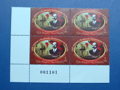 2016 ALBANIAN STAMPS 100 YEARS OF AUTONOMOUS REGION OF KORCA, BLOCK OF FOUR WITH MARGINS MNH (5)