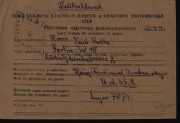 Guerre 39/45 Prisonnier De Guerre Allemand En URSS Russie 1947 FM Franchise Militaire Censure Russe - Deutschland
