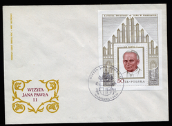 A4503) Polen Block 75 FDC Und Block 76 Brief Pabst Johannes Paul - Briefe U. Dokumente