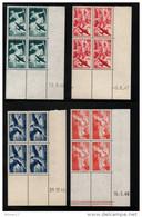FRANCE  Coins Datés  P. A. N° 16/19  N**  1946/1947