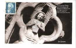 Jean Perrin 1870-1942-Prix Nobel De Physique 1926-YT 821-1948-Seul Sur CP De La Chaise Dieu-Ange Musicien- - 1921-1960: Moderne