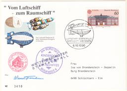 ALLEMAGNE / DEUTSCHLAND - 1988 - Carte -  Zeppelin