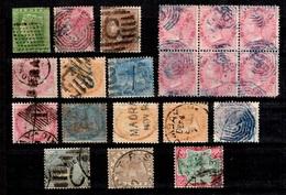 Inde Anglaise Petite Collection D'anciens Oblitérés 1854/1888. B/TB. A Saisir!