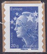 Timbre AA Neuf ** N° 592(Yvert) France 2011 - Marianne De Beaujard Europe, Provenant De Carnet