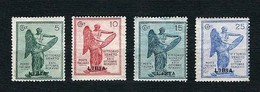 LIBIA Italiana 1922 - Vittoria - 50 C, Nero E Oliva - MH - Sa-IT-LY 34-37 - Libia