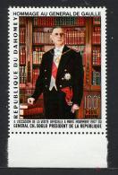 DAHOMEY 1967, GENERAL DE GAULLE, 1 Valeur, Neuf** / Mint**. R405tbre
