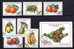 Serie  Nº 1053/9 + Hb-76 Madagascar