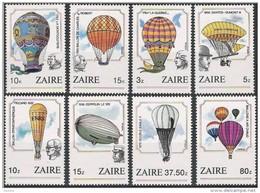 Zaire 1984 OBCn° 1245-52 *** MNH  Cote 14 Euro Luchtballons