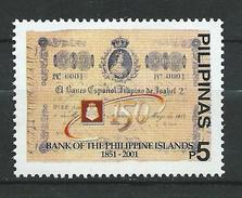 Philippines 2001 The 150th Anniversary Of Philippines Bank.MNH - Filippine