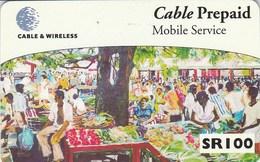 """Seychelles - """"Market Seller"""" - Painting Courtesy Of Steve Marie"""