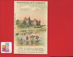 Chocolat Louit Ruines Historiques De France Jolie Chromo Château SUCCINIO SARZEAU MORBIHAN DUGUESCLIN FAG - Louit