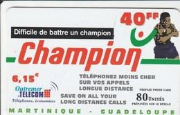 Martinique, Guadeloupe - Champion 40 FF - Phonecards