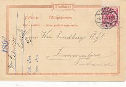 LÜBECK - 1899 , Karte Nach Tammersfors