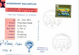CP München Pour Ismaning (25.06.1965) Kinderdorf Ballonflug_ERGEE