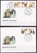 Russia 2000 Mi 837-841 2 X FDC - Decorative Dogs