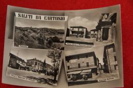 Cartosio Alessandria Vedutine Con Ristorante Nazionale E XX Settembre 1958 - Altre Città
