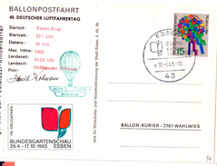 CP De Essen Kray Pour Holthausen (16.05.1965)_ballonpostfahrt