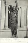 CPA Photo De CHARNAY - Eglise - Statue De St Christophe. - France