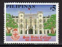 Philippines 2001 The 100th Anniversary Of San Beda College.university.MNH - Filippine