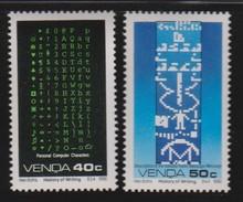 M 420) Venda 1990 Mi# 286-287 **: Geschichte D Schreibens, PC Zeichen, Nachricht
