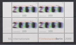 M 421) BRD 2000 Mi# 2102 (4) **:50. Filmfestspiele Berlin, Zahl 2000 Filmsequenz