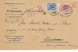 HERMESKEIL - 1891 , R-Brief Nach Wadern - Big Letter, Dispatch = 6,70 EURO