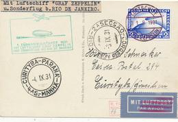 Luftschiff Graf Zeppelin - 1.8.31 , Südamerikafahrt Nach Curityba