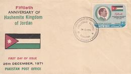 Pakistan Cover, Jordan King Visit Pakistan       (Z-2566) - Jordania