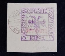 DO, Postal History, STORIA POSTALE,frammento Busta, Commision De Controie, Provisoire, Rapara 25, Korce, 1914, Shqiptare