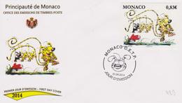 Bandes Dessinées : Monaco O.E.T.P. Rend Hommage à André Franquin Et Son Marsupilami (01-04-2014)