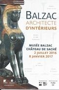 37 - BALZAC Architecte D'intérieurs - MUSEE BALZAC CHATEAU DE SACHE - Juillet 2016-Janvier 2017 - Musées